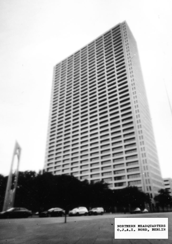 O.J.A.I. Nord Headquarters, pinhole photograph