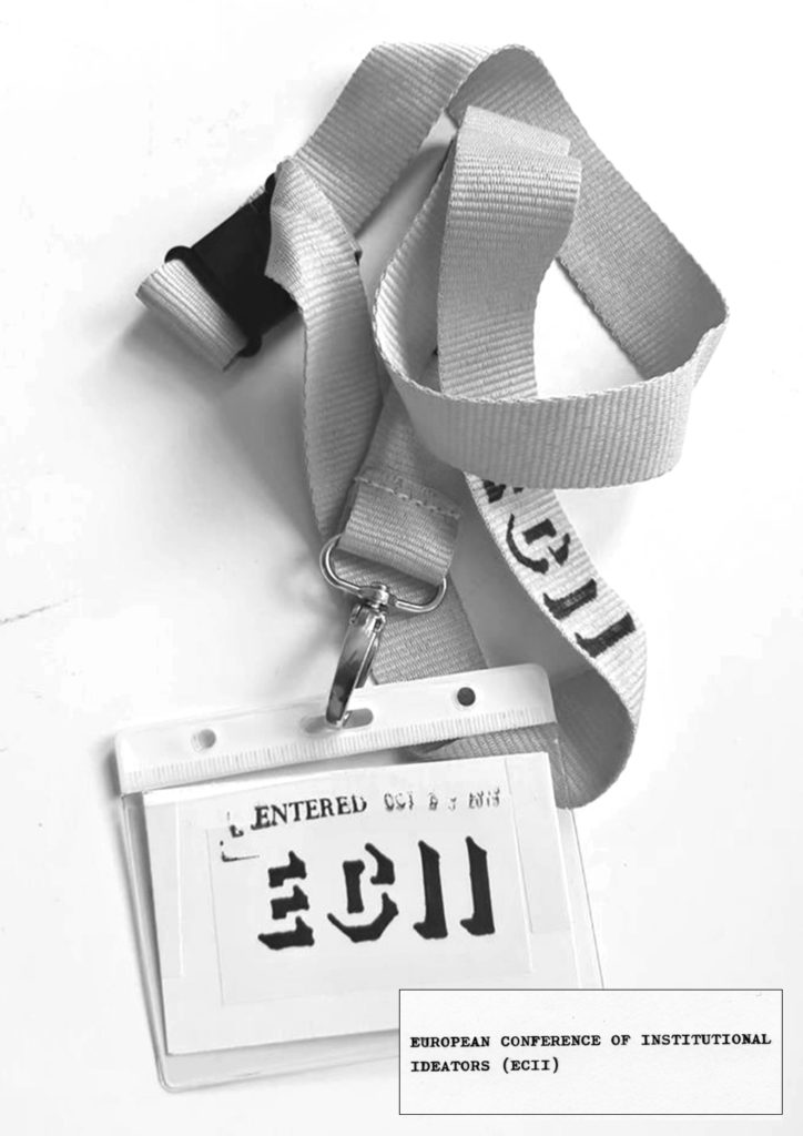 European Conference of Institutional Ideators (2019), delegates lanyard